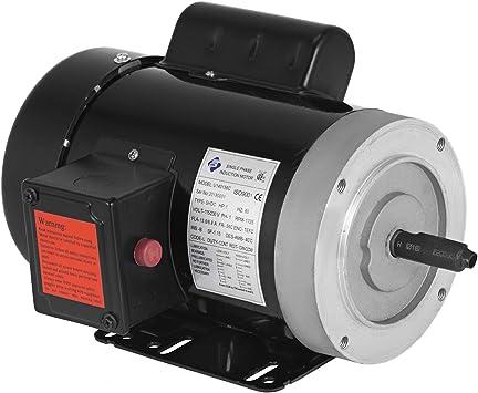 Mophorn 1 Hp Electric Motor 1725rpm 56c Frame Single Phase Industry Ac Motor 11 2 5 6a 115v 230v Air Compressor Motor