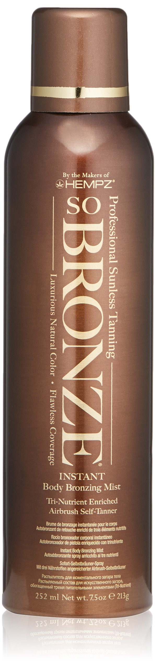 Hempz So Bronze Sunless Airbrush Tanning Spray, 7.5 Fluid Ounce