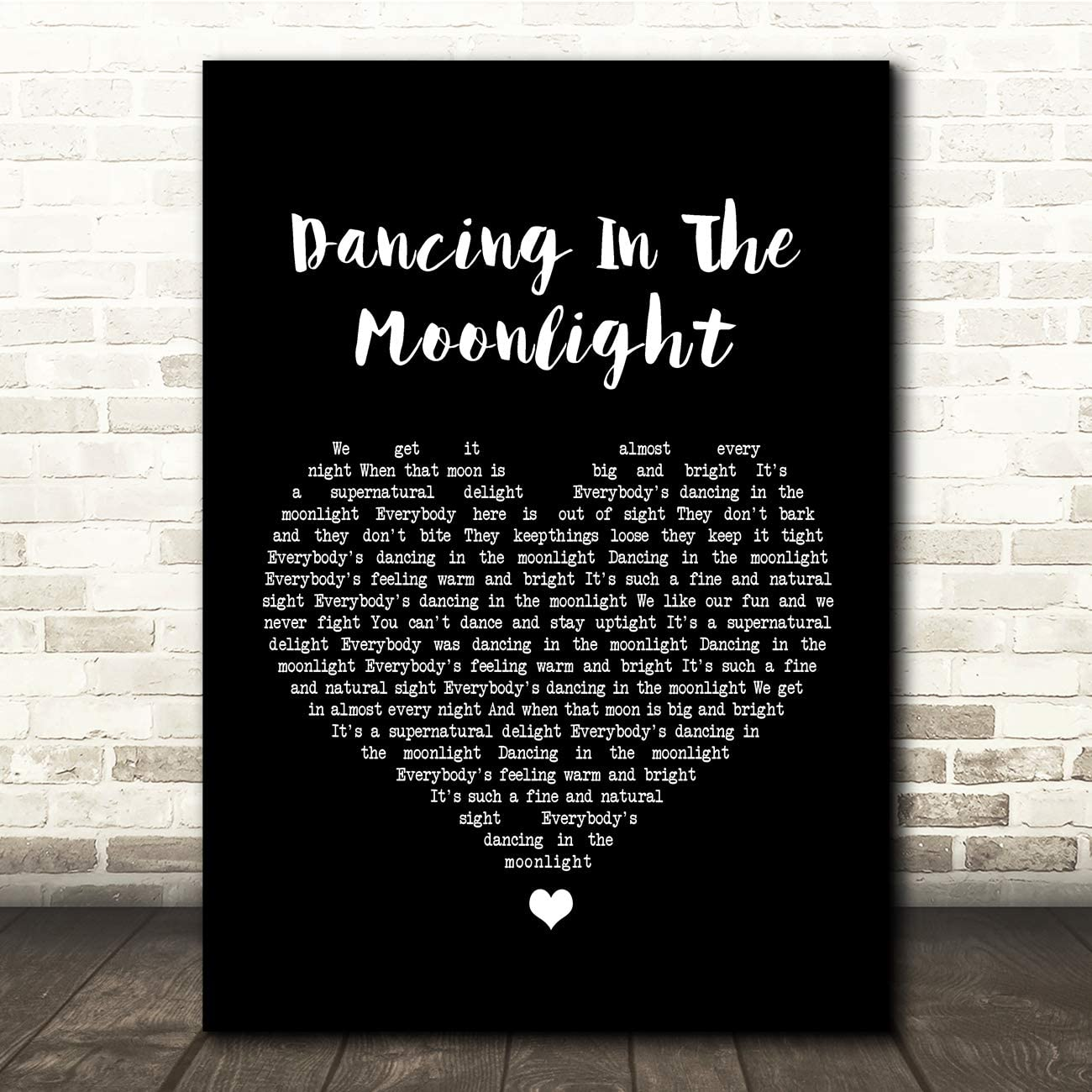 Fingerprint Designs Dancing In The Moonlight Black Heart Song Lyric Quote Print Amazon Co Uk Kitchen Home Elyrics k king harvest lyrics. song lyric quote print