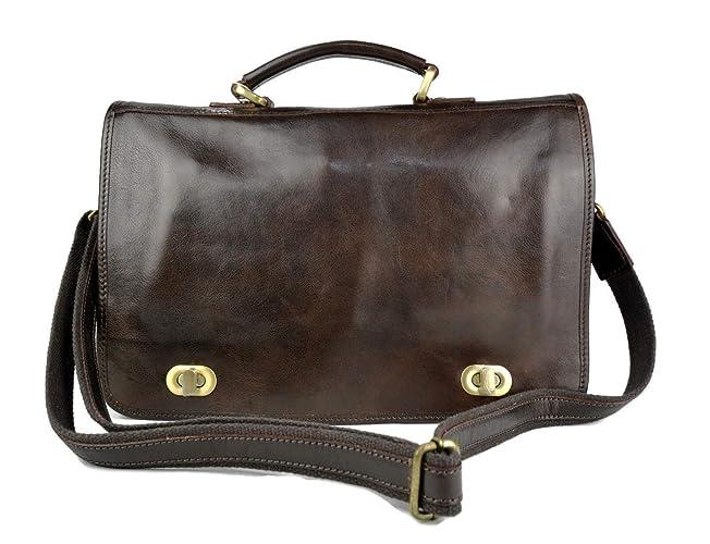 Cartera de cuero bolso messenger de piel bolso de hombre bolso de mujer de cuero bolso