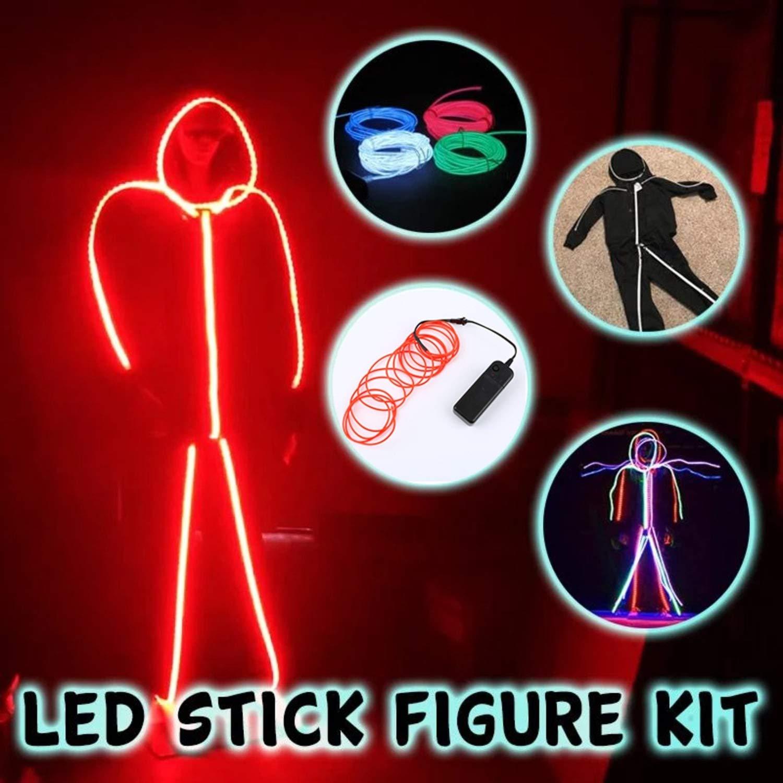 Osena 2019 LED Stick Figure Kit 193.8 Inchs, Green