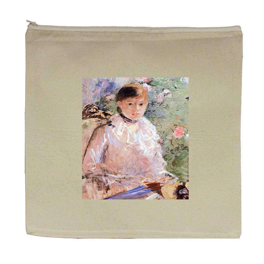 Young Woman At The Window (Morisot) Canvas Zipper Tote Bag Makeup Bag
