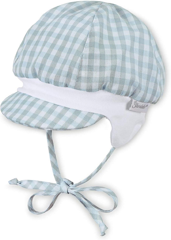 Sterntaler Ballonm/ütze mit Bindeb/ändern und Ohrenklappen Himmel Hellblau