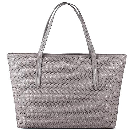 Amazon.com  TIBES Large Tote Purse Travel Bag Women Grey  TIBES 2c552383ef0f1