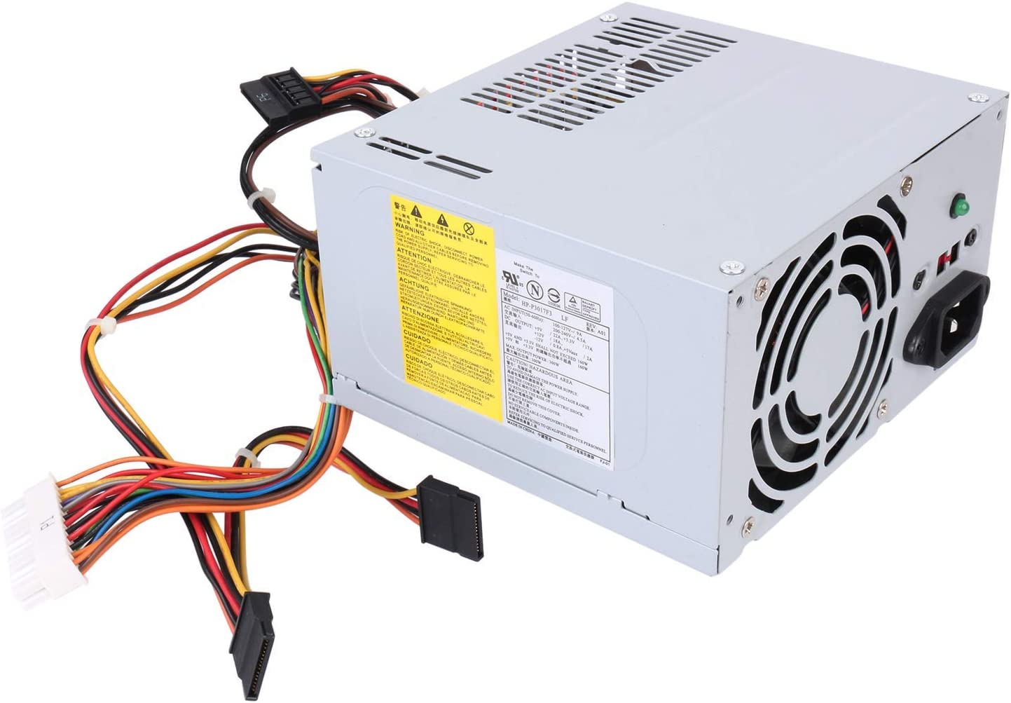 S-Union HP-P3017F3 J036N XW600 300W Replacement Power Supply for Dell Vostro, Studio, Precision, Inspiron Series Mini Towers Systems Part Number: PS-5301-08, D300R002L, HP-P3017F3 LF, DPS-300AB-24