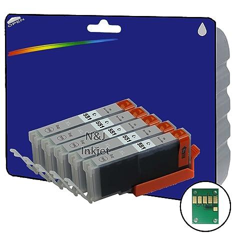 5 Color Gris no OEM Compatible Cartuchos de Tinta XL para Canon ...