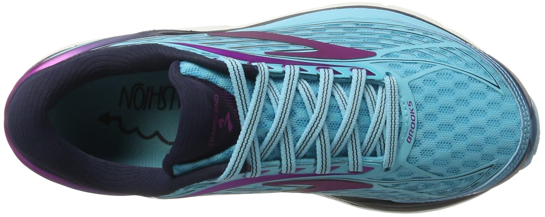Brooks Women's Transcend 4 Bluefish/Peacoat/Purple Cactus Flower 6.5 B US by Brooks (Image #7)