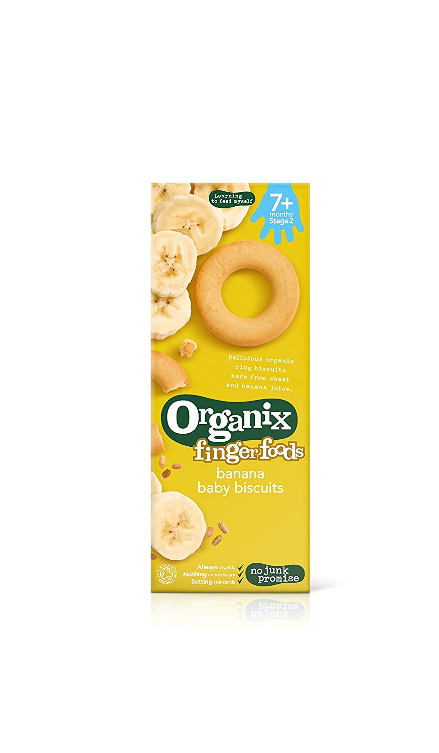 Organix Organic Baby Ring Biscuits Banana 54g (Pack of 4) ORGANIX (VEGETARIAN)
