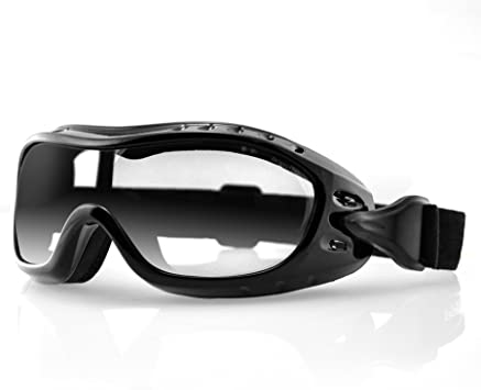 Bobster Night Hawk OTG Motorbike Motorcycle Goggles Black With Clear Lenses