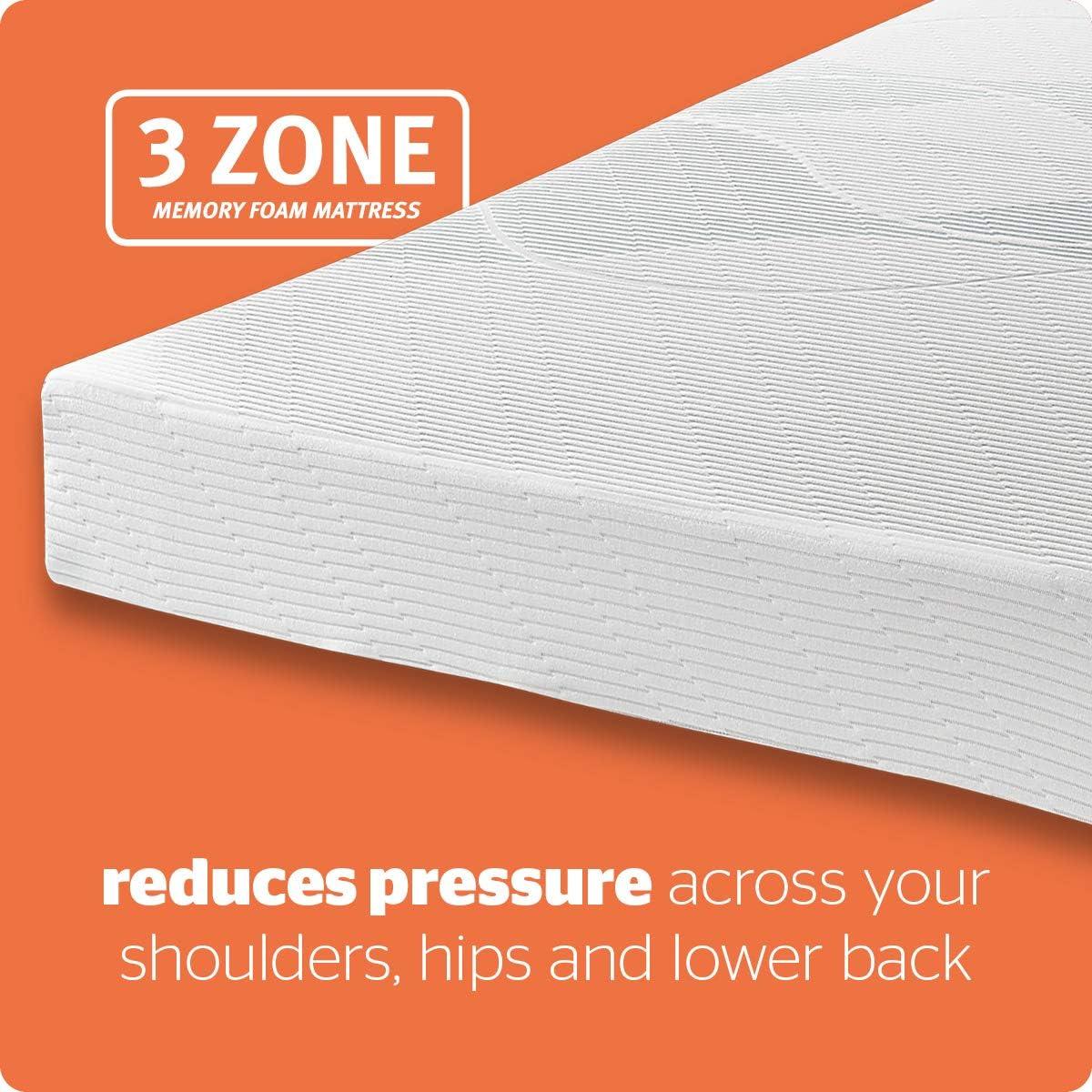 Single Medium Made in the UK Silentnight 3 Zone Memory Foam Rolled Mattress