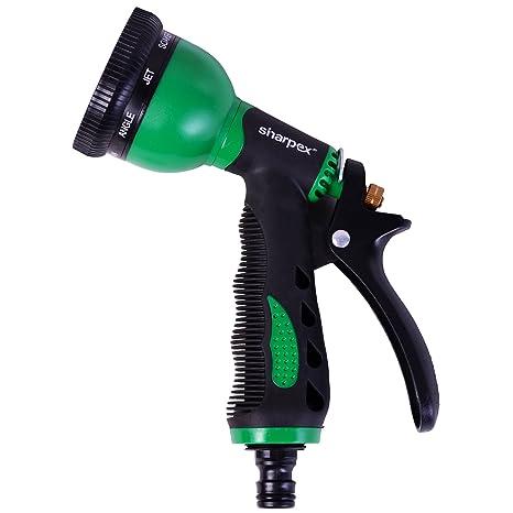 Sharpex 8 Pattern Water Spray Gun (Black and Green)