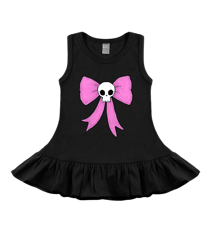 My Baby Rocks Bow Skull Black Sleeveless Tank Top Ruffle Dress by B36-13473-4