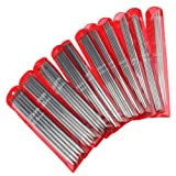 """55 X 7.9"""" 11 Sizes 20cm Double Point Carbonized Stainless Steel Knitting Needles"""