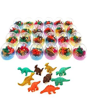 JZK 24 Huevos Dinosaurio con poca Goma Juguete Dinosaurio Mini borrar Borrador lápiz Juguete para niños