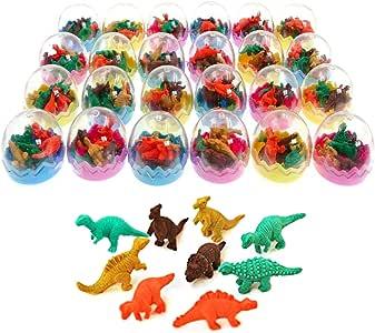 JZK 24 Huevos Dinosaurio con Poca Goma Juguete Dinosaurio