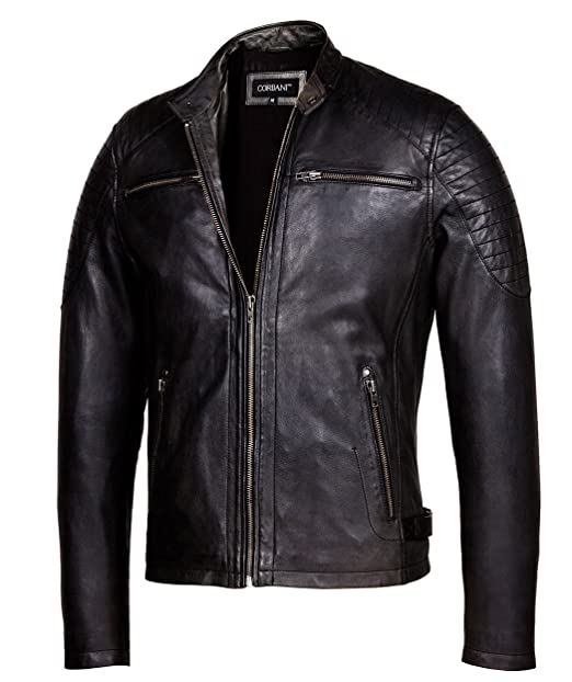 a342036aa Cafe Racer Leather Jacket – Mens Genuine Leather Jackets