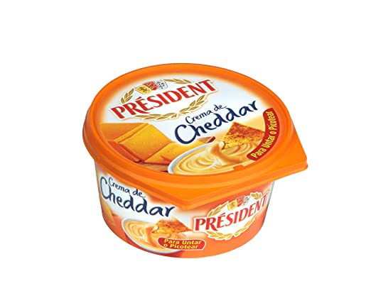 Président Crema de Queso Cheddar - 125 gr: Amazon.es: Alimentación y bebidas