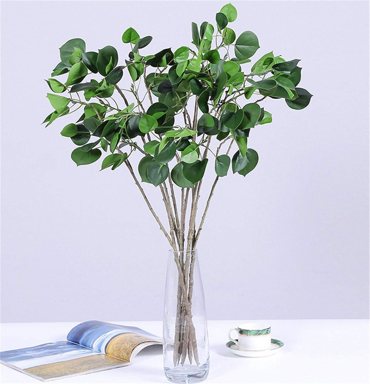 Skyseen 造花3本 フェイクフラワー シルクプラスチック 人工樺の葉 ホームガーデンパーティー ウェディングデコレーション B07GBDGNNY