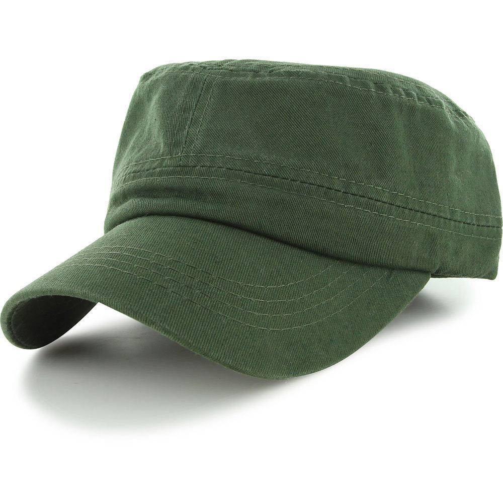 Easy-W Olive Military Style Caps Hat Unizex Bucket