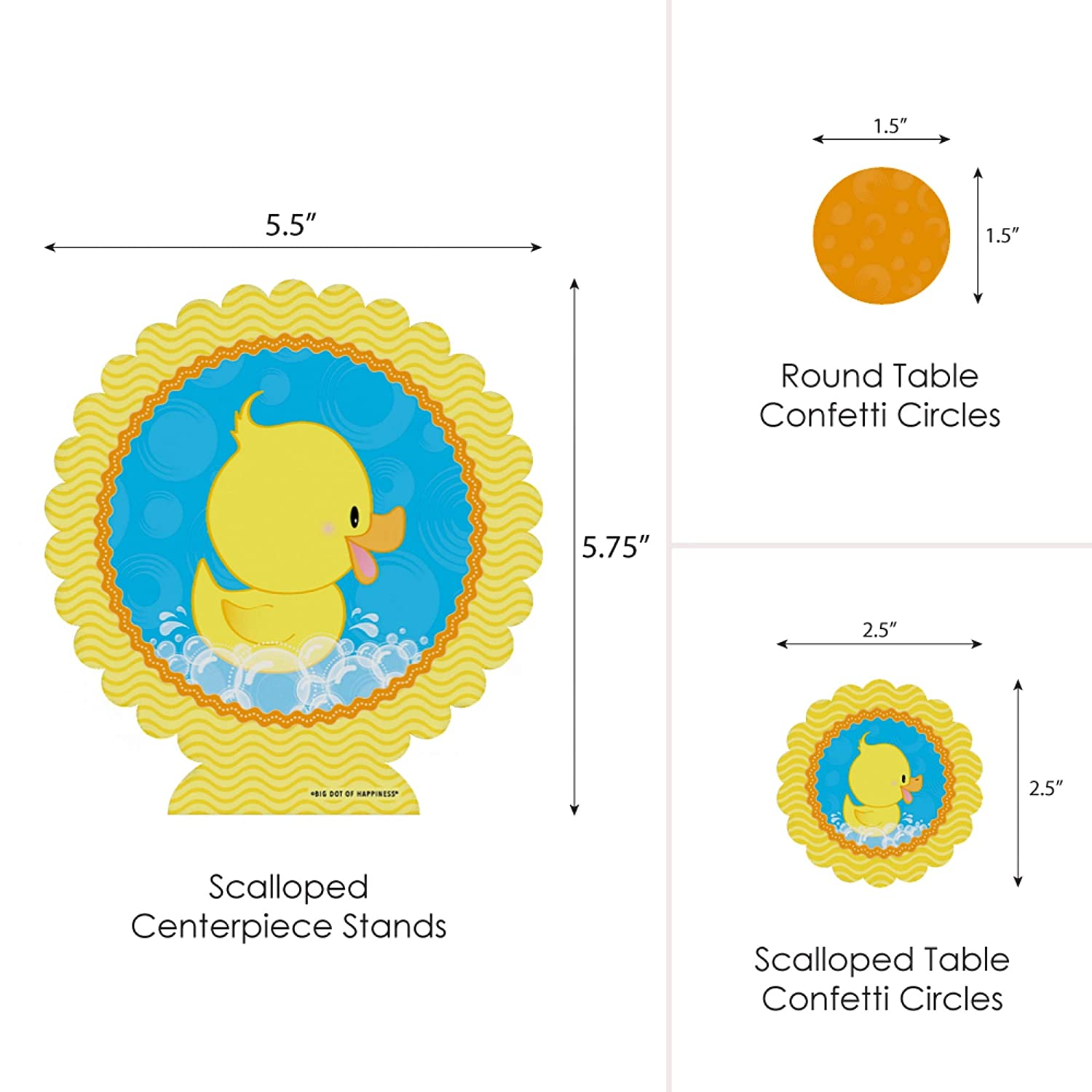 Big Dot of Happiness Ducky Duck Baby Shower or Birthday Party Centerpiece /& Table Decoration Kit