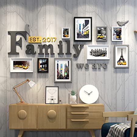 Hhnp Photo Frames Family Solid Wood Photo Wall Living Room Bedroom