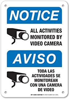 Notice All Activities Monitored By Video Camera Sign - Video Surveillance Security - 10