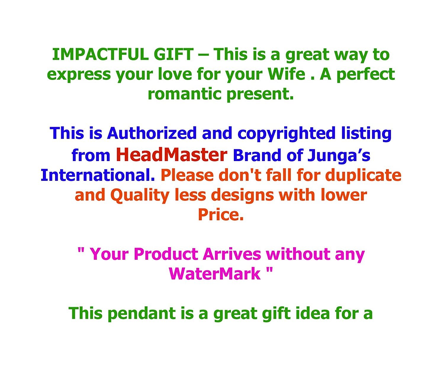 Amazon.com : wife gifts pendant necklace - To my wife without you ...