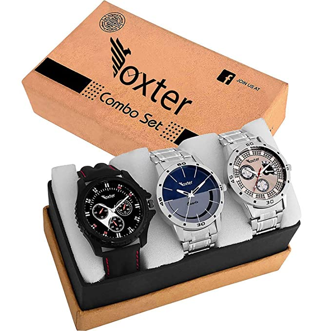 Foxter Quartz Movement Analogue Watch pack of 3 Rs.499