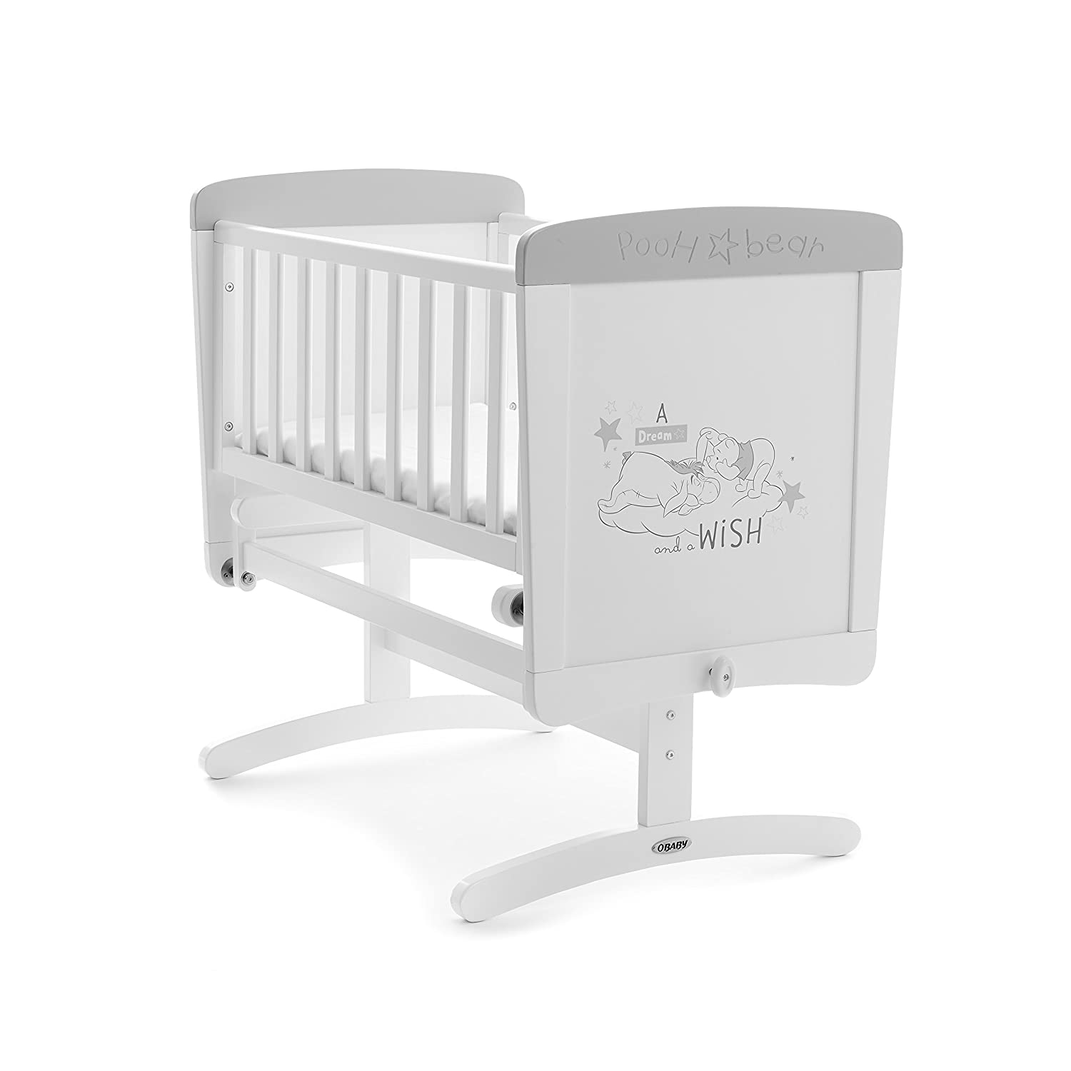 Disney Winnie the Pooh Gliding Crib and Mattress, Dreams & Wishes Kims Baby Equipment Co Ltd 22DB0507MA