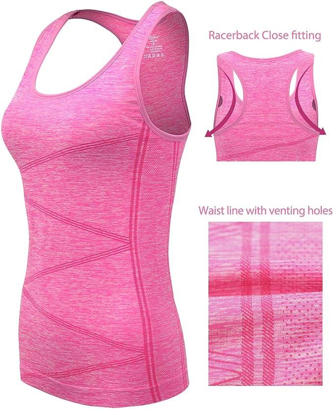 Disbest D/ébardeur et Tops de Sport Gilet Femme T-Shirt sans Manches Yoga Fitness Elastic Vest