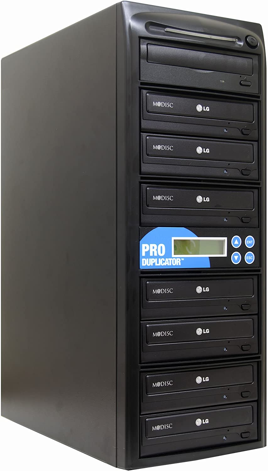 Produplicator 1 to 7 24X Burner M-Disc Support CD DVD Duplicator - Standalone Copier Duplication Tower