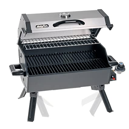 Charmant Portable Propane Bbq Gas Grill 14,000 Btu Porcelain Grid With Support Legs  And Grease Pan By