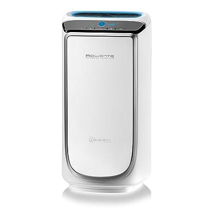 Climatizadores Evaporativos Rowenta Intense Pure Air PU4020F0 Purificador de aire, hasta 60 m² con sensores del nivel de contaminación, 4 niveles de filtración y tecnología NanoCaptur para sustancias contaminantes
