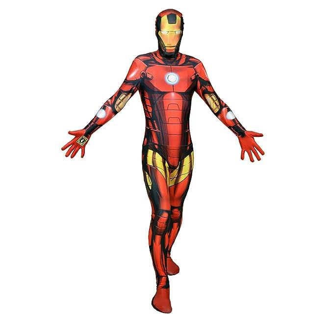 Disfraz de cuerpo entero Morphsuit de Iron Man, digital, fiestas ...