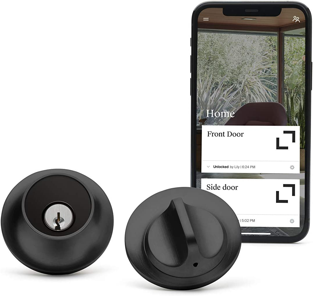 Level Touch, Keyless Entry Using Touch, a Key Card, or Smartphone. Bluetooth Enabled, Works with Ring and Apple HomeKit - Matte Black