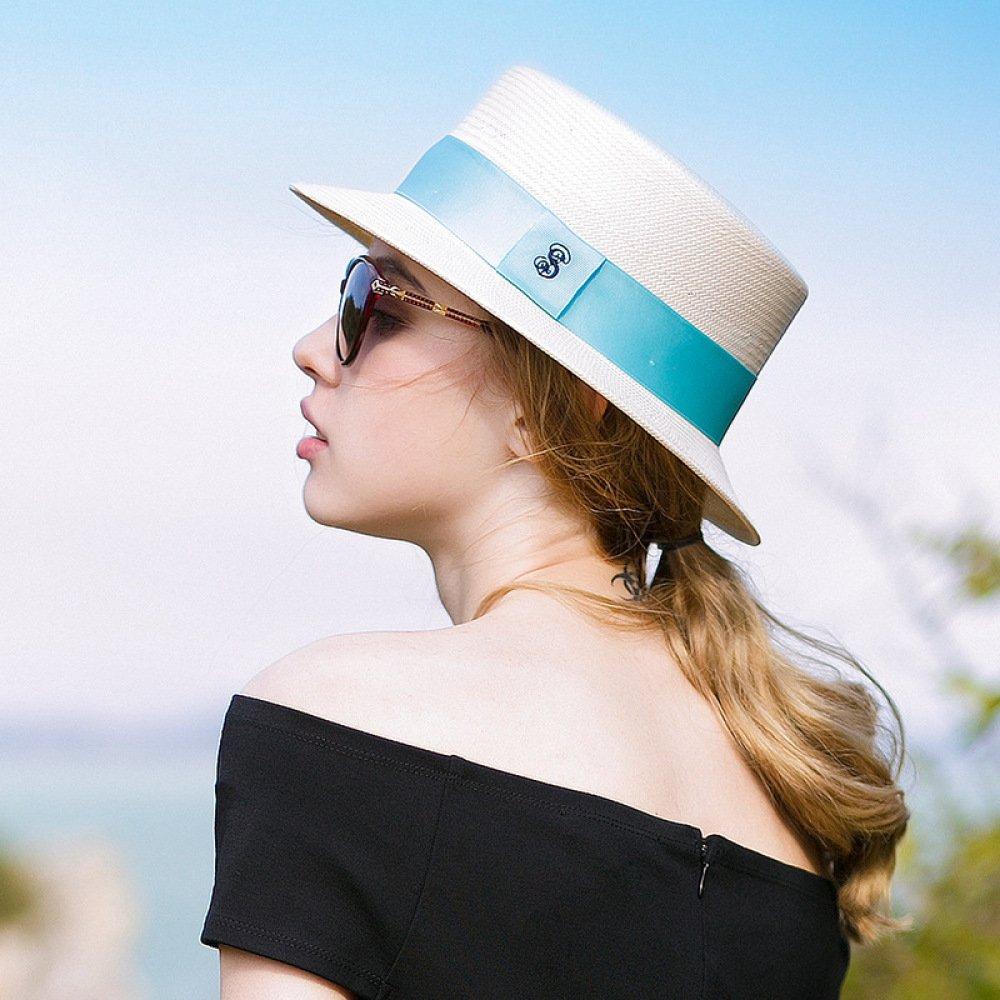 FJTHY Frühling und Herbst Sonnenschirm Shopping Strand Sonnencreme Hut Mode einfachen einkaufen,Weiß,Einheitsgröße