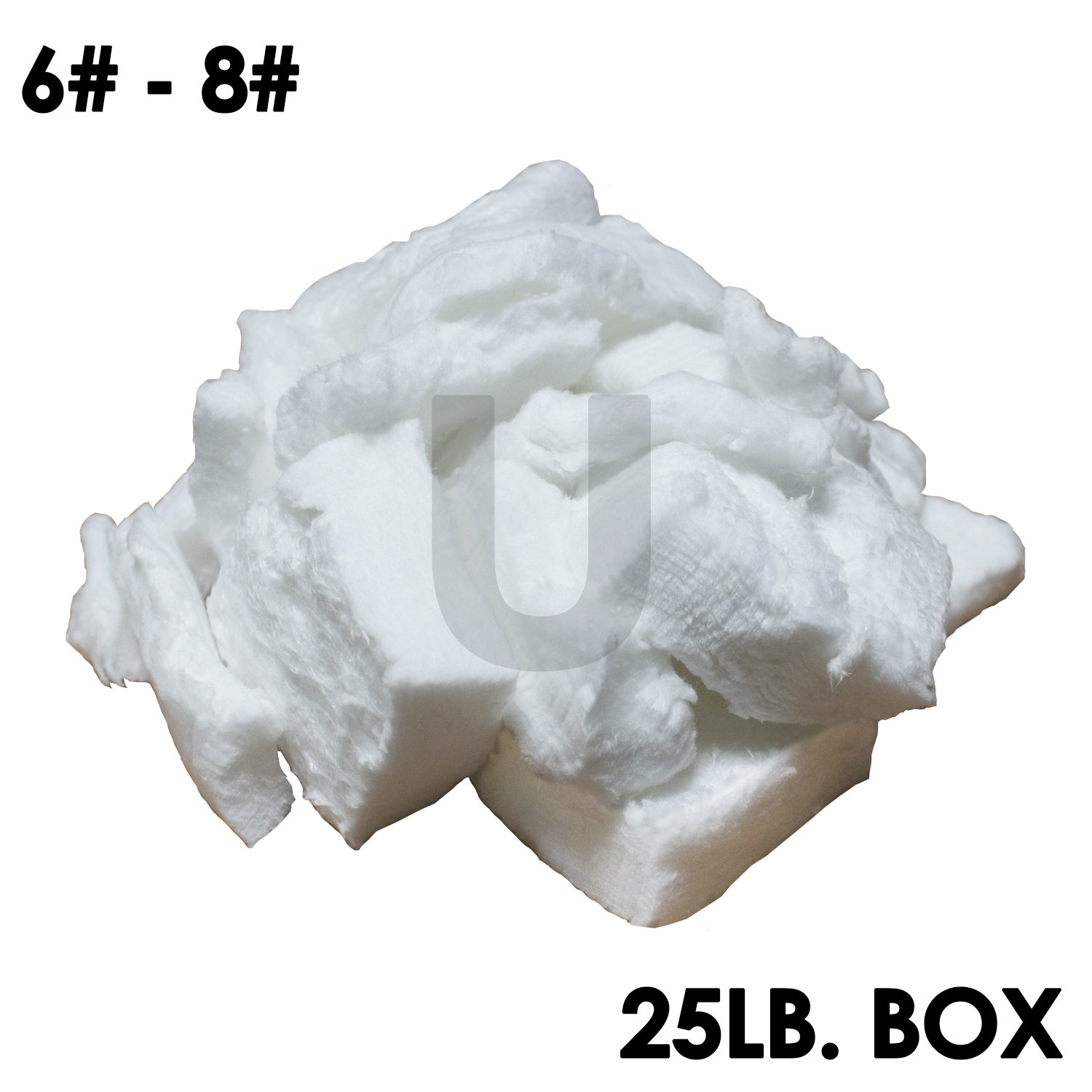 UniTherm Ceramic Bulk Fiber (25 lbs. Per Box) (6-8# Densities, 2300°F) for Vacuum Forming of Rigid Boards & Shapes, Reinforcement of Cast Ceramics, Bulk Fill Material or Insulation and More!