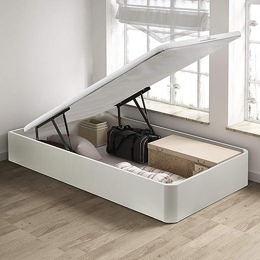PIKOLIN, canapé abatible de almacenaje Color Blanco 90x200, Servicio de Entrega Premium Incluido