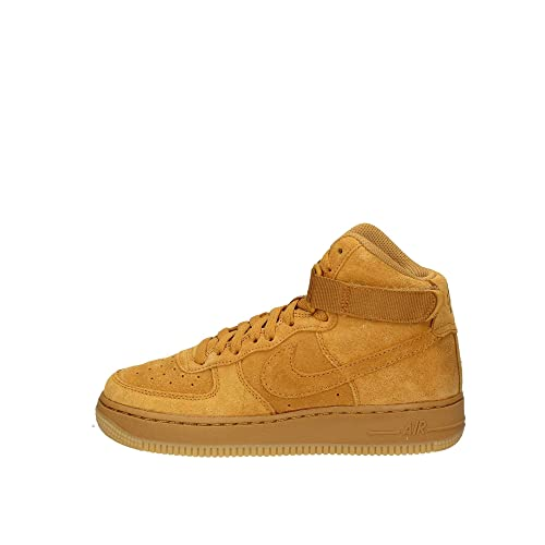 quality design 96710 267e0 Nike Men s Air Force 1 High Lv8 (gs) Fitness Shoes, Multicolour Wheat Gum  Light Brown 701, 6 UK  Amazon.co.uk  Shoes   Bags
