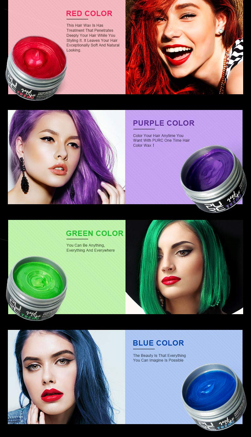 Hair Color 2018 Hot Sales New Products Good Dye Hair Color Hair Dye Wax For Crazy Party Carnival Double 11 Holiday Beautiful Make Up At All Costs Hair Care & Styling