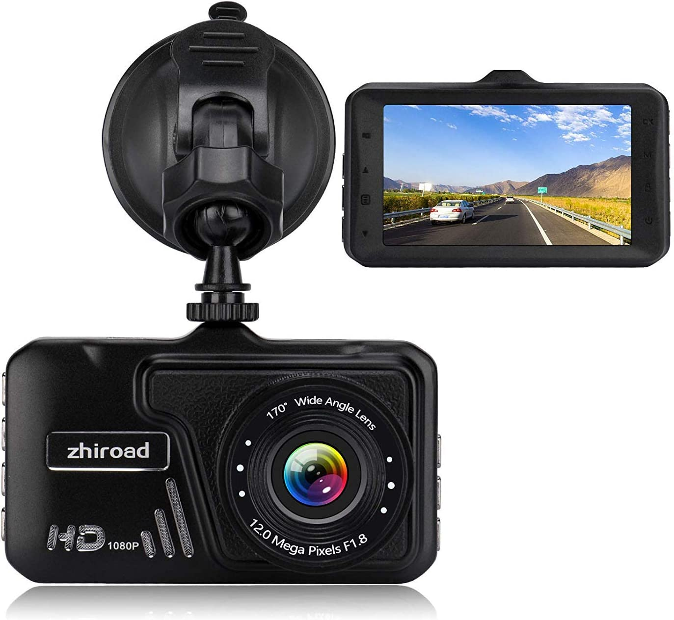 Upgraded Dash Cam 1080P Full HD Dashboard Camera Recorder with High Sensitive G-sensor 6 IR LED Night Vision,Loop Recording,Motion Detection,Parking Monitor