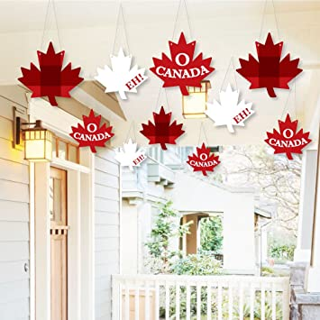Amazon Com Hanging Canada Day Outdoor Hanging Decor Canadian
