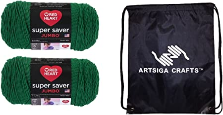 RED HEART Super Saver Jumbo Yarn Paddy Green
