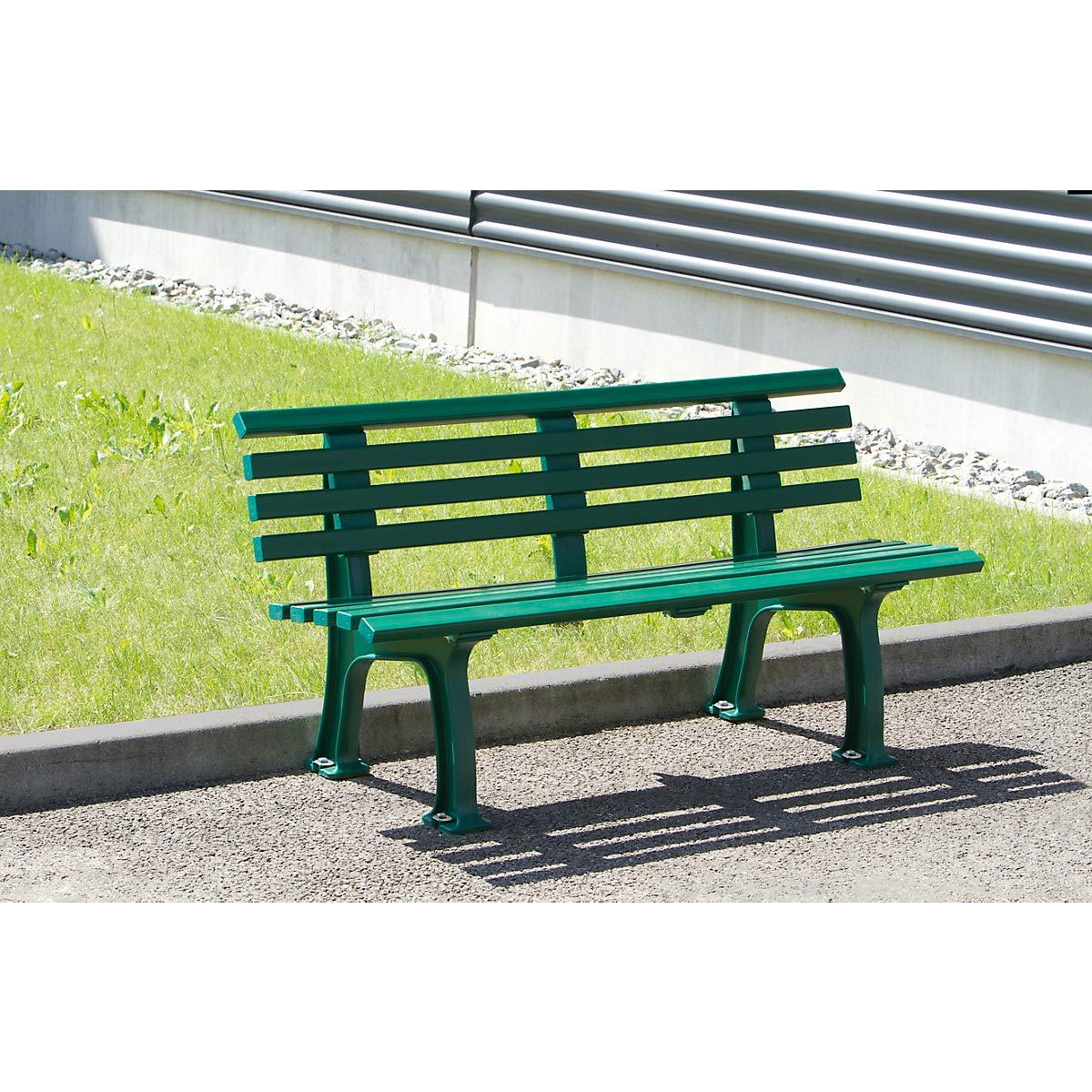 Parkbank aus Kunststoff Sitzbank Gartenbank Ruhebank Bank f/ür Au/ßenbereich UV- und witterungsbest/ändig PVC Bank mit 9 Leisten stahlblau Breite 2000 mm