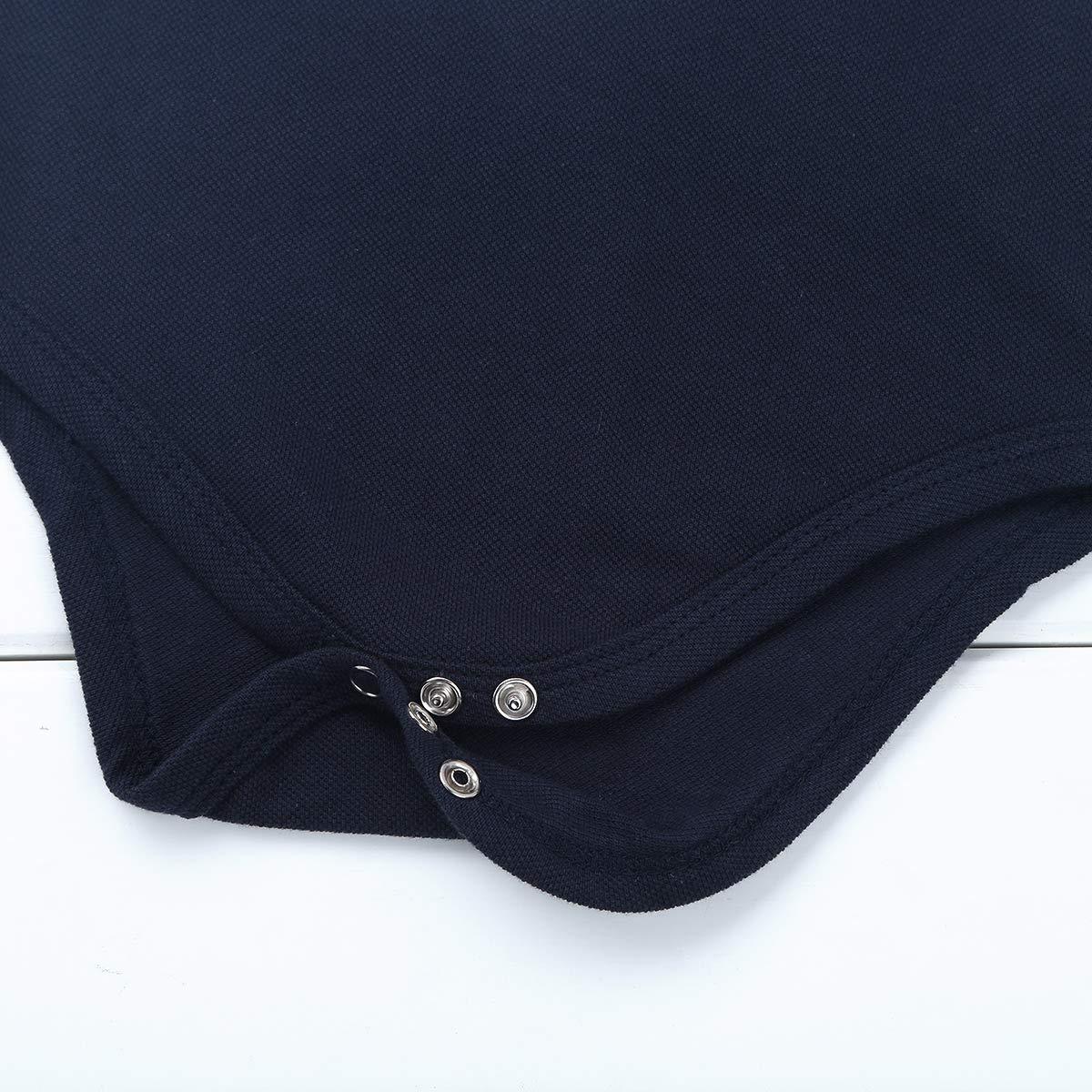 Tiaobug Baby-Jungen Hemd wei/ß mit Kentkragen Baumwolle Body Kurzarm Shirt Festliche Kleidung Gentleman Outfit Taufe Hochzeit Weihnachten Geburtstag