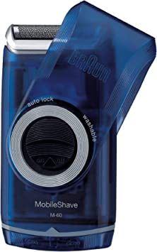 Braun PocketGo M60b MobileShave - Afeitadora eléctrica para hombre portátil, máquina de afeitar barba, transparente azul: Amazon.es: Salud y cuidado personal