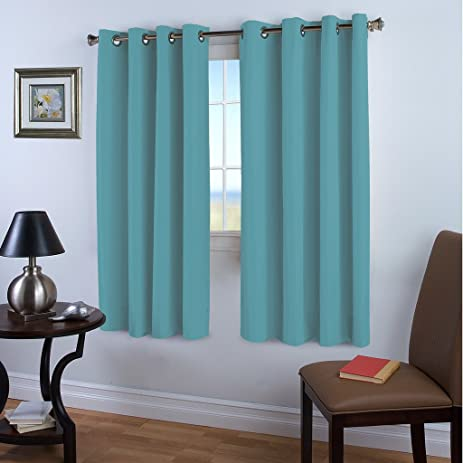 Blackout Curtains Panels For Bedroom   Ultra Soft Microfiber Noise Reducing  Thermal Insulated Solid Grommet Window