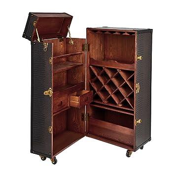 Butlers Hemingway Barschrank Antike Hausbar Aus Holz Kofferbar Mit Weinregal Schubladen Und Stauraum