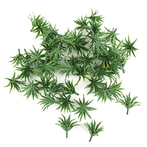 MagiDeal 50pcs Model Shrubs Bush Railway Wargame Park Diorama Scenery Decor HO 3.5cm