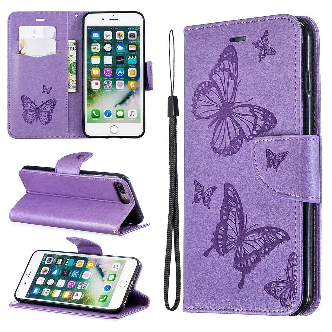 Lyzwn Coque iPhone 7 Plus / 8 Plus, Housse en Cuir PU Flip Coque Etui Portefeuille Case avec Support Cartes Slots Fermeture Aimantée pour iPhone 7 Plus / 8 Plus Cas Couverture